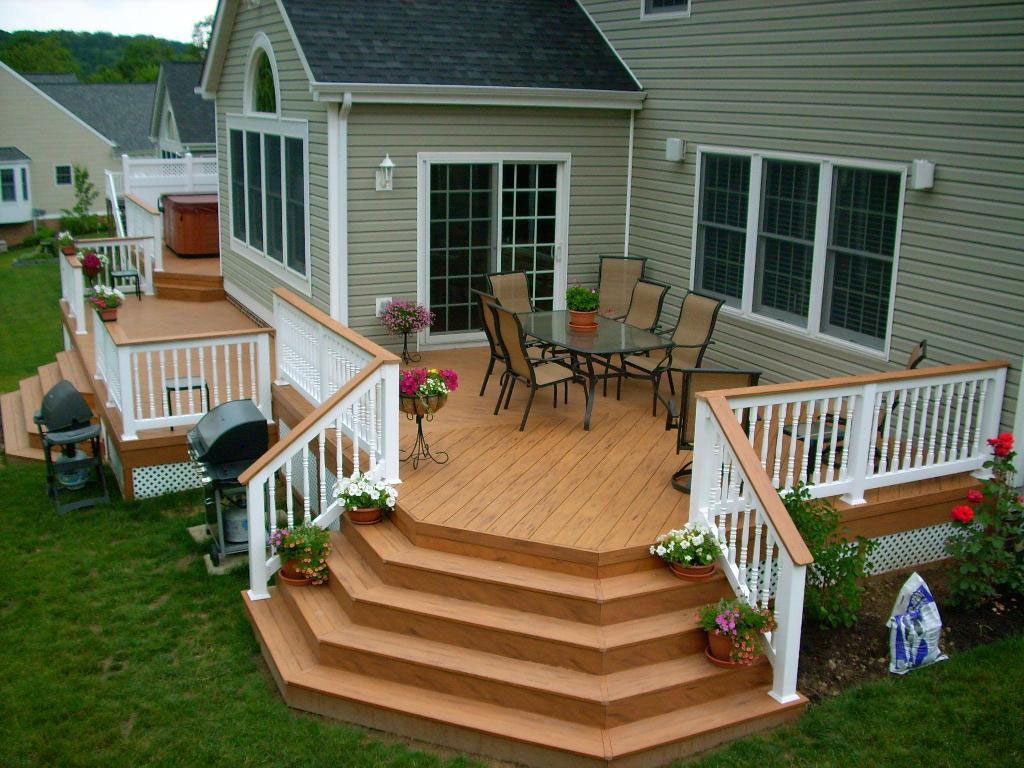 Decks porches walkways patios united building for Backyard decks